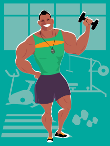 dreamstime-personal-trainer-at-the-gym